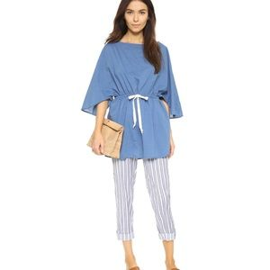Striped & Solid Poppy Delevingne Blue Cover Up